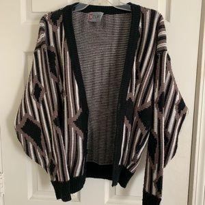 Sweaters - Retro Pattern Knit Cardigan